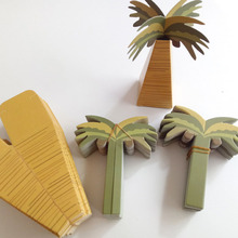 25pcs Mini Coconut Tree Design Wedding  Candy Boxes Hawaiian Style Paper Gift for Party club gift