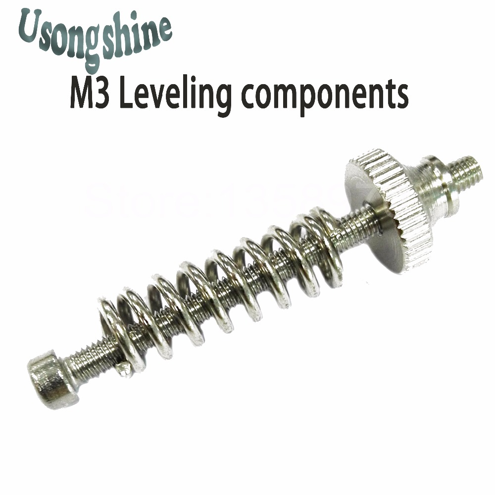 Leveling components M3 screw Leveling spring Leveling knob suite for 3D printer and machine spring
