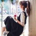 DOWISI 2 шт./компл. летние женщины dress кружева обрезанные топы с Чулок dress vestidos плюс размер кружева длинным Tirantes vestido Dress