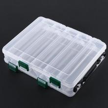 10 Compartments Clear Double Sided Fishing Field Case Bait Lures Shrimp Deal with Storage Field Carp Fishing Equipment Instruments