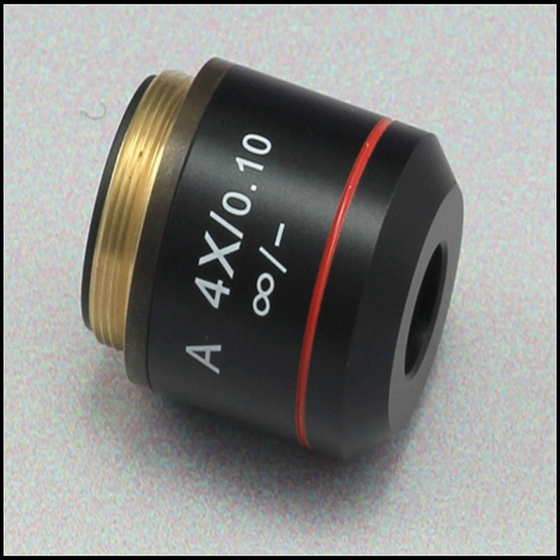 Free Shipping 4X Achromatic Infinity Objective Lens for Biological Olympus Infinity Microscope