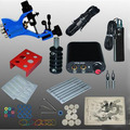 Complete Tattoo Kit  Machine Gun Set Equipment Power Supply Color Ink with case  high quality  lowest price send tattoo sticker