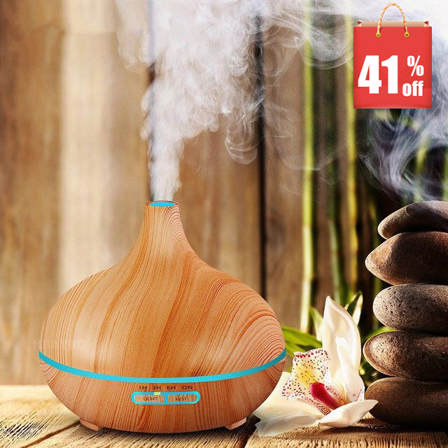 все цены на MRF-008 300ml Air Humidifier Essential Oil Diffuser Aroma Lamp Aromatherapy Electric Aroma Diffuser Mist Maker for Home-Wood