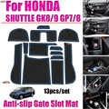 13 teile/satz für Honda SHUTTLE GK8/9 GP7/8 Auto Styling Tür Nut Pad Non-slip Tor slot Pad Auto Innen Gummi Bahn Abdeckungen