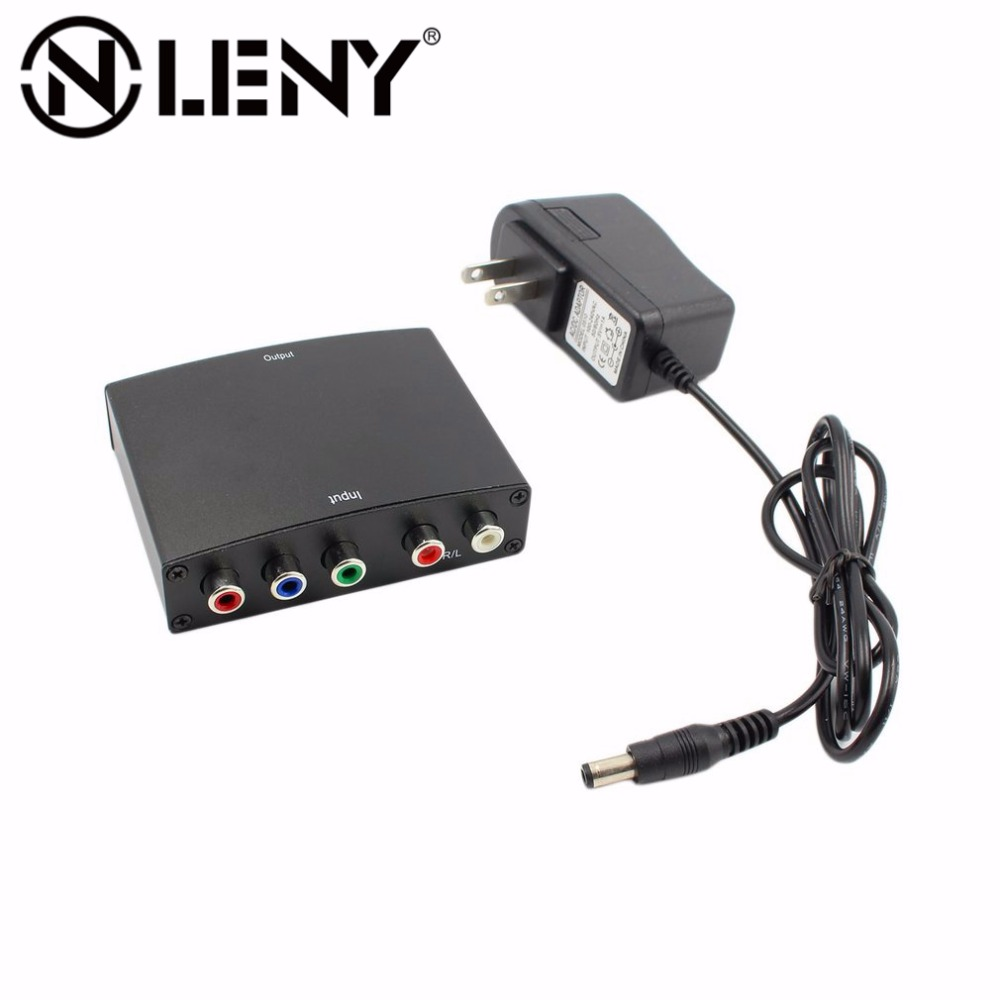 Onleny 1080p Component to HDMI Converter RGB YPbPr to HDMI Converter AV Video Audio HDCP YPbPr/RGB + R/L audio to HDMI Converter 7600 component video to vga video converter change ypbpr to composite video