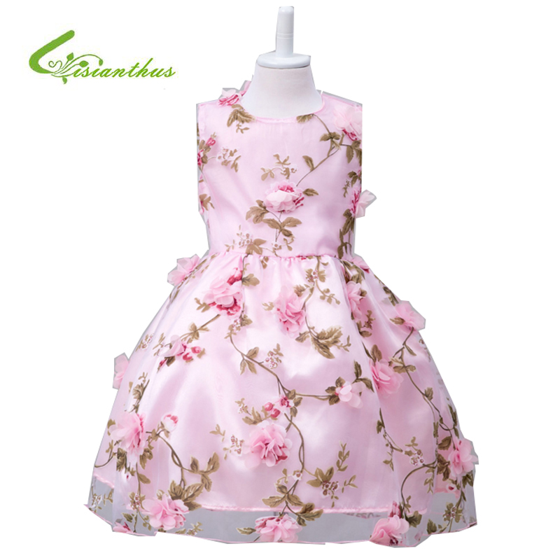Подробнее о Summer  Kids Dress For Girls Princess Wedding Party Dresses Girl Clothes 3-10 Years Flower Dress Bridesmaid Children Clothing zika new children puff dress little girl clothing summer flower princess costumes kids dresses for girls wedding party 3 8y
