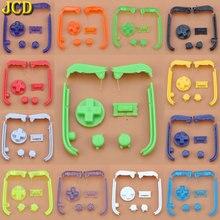 JCD çok renkli düğmeleri tuş takımı L R A B düğmeler Gameboy Advance düğmeler çerçeve GBA için D pedleri güç açık kapalı düğmeler