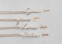 Big Promotion 925 Personalized Handwriting Name Necklace women Custom Jewelry Engraved Words Pendants Necklace Birthday Gift