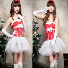 2017 high quality Sexy Nightdress Women Lingerie Christmas Costume Tutu Skirt Party With Fantasy Headwear and Dress Women