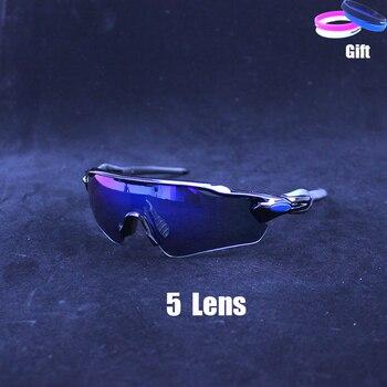b2e9172f19 Polarizado gafas ciclismo 5 lente hombres y mujeres bicicleta gafas de sol  UV400 deporte gafas de montar 2019 mtb bicicleta gafas fietsbril