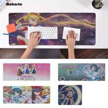 Babaite Beautiful Anime Sailor Moon Laptop Computer Mousepad Rubber PC Gaming mousepad