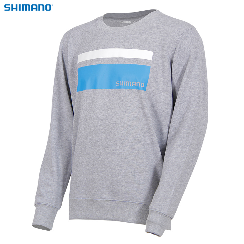 SHIMANO Spring Autumn Fishing Clothing Long Sleeve O Neck Fishing Clothes Blue Gray Black Outdoor Sports Fishing Sweatershirt