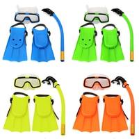 Junior Per Bambini Set Snorkeling Snorkeling Occhiali Maschera Pinne Scuba Superficie Swim Mask Silicone Maske Masque Tuba Plongee Bambini Set