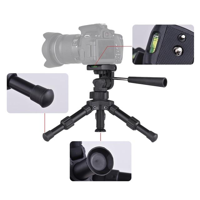 XILETU XB-2 Mini Tabletop Tripod Flexible Portable For DSLR Nikon Digital Camera with Three Dimensional Panoramic Tripod Head 5
