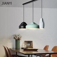 Современные подвесные светильники Lamparas светодиодные лампы Красочные Алюминий абажур подвесной светильник из дерева Освещение для обеденн