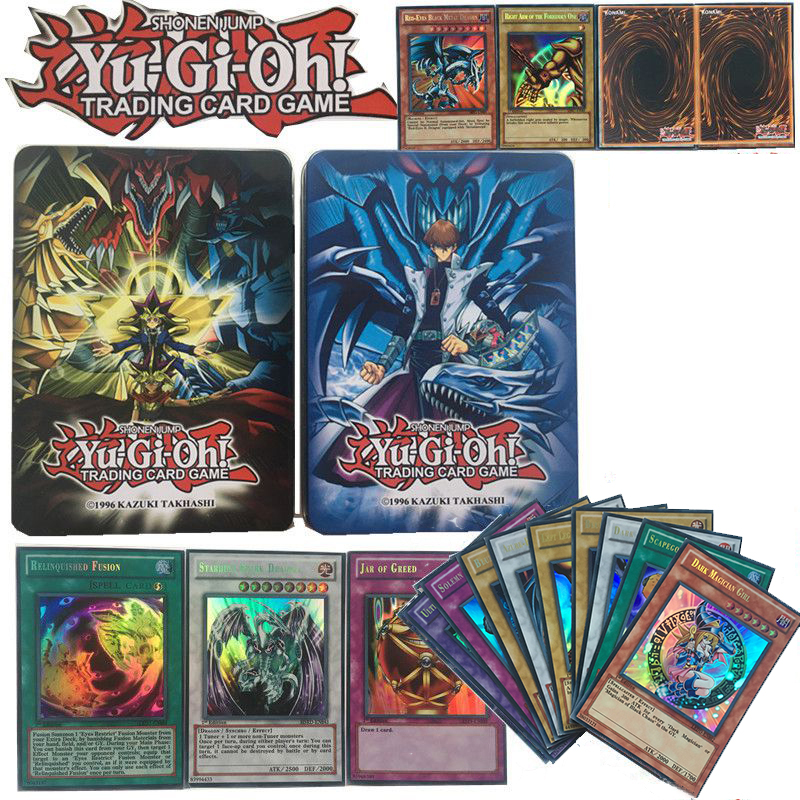 Yugioh 60pcs Set With Box Cards Card Game Battle Card Full Flash Card 60 Sheets Egyptian God Collectible Toys For Boy Yu