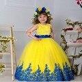 Винтажный цветок девочка платья для свадьбы кружево дети конкурс красоты платья маленькая девочка пром платья vestido primera comunion