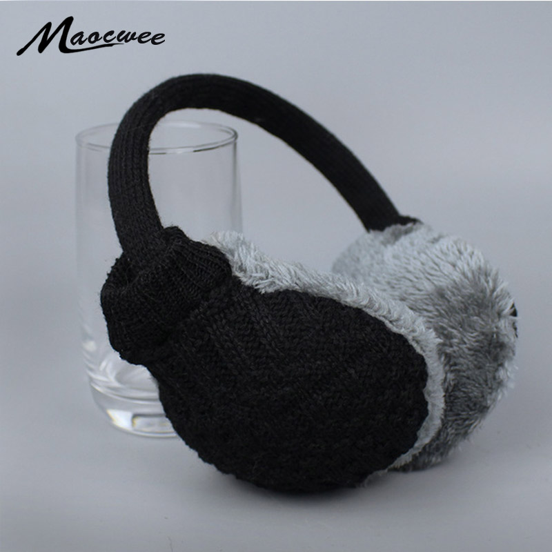 2017 New Winter Warm Earmuffs Knitted Women Ear Muffs For Man Earmuffs For Girls And Boys Gift Ear Warmers Winter Earmuff Brand