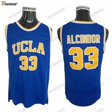 69178a3d4 DUEWEER UCLA Bruins 33 Lew Alcindor College Basketball Jerseys Kareem Abdul- Jabbar Stitched University Basket