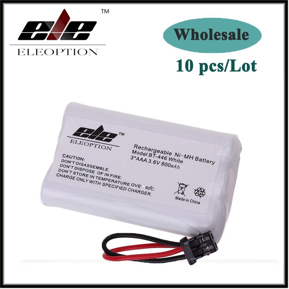 En gros 10 pcs blanc 3.6 v 800 mAh Ni-MH Téléphone Sans Fil Batterie pour Uniden BT-1005 BT1005 DCT646 BT1005 ER-P512 Livraison gratuite
