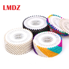 LMDZ 40/120/240/480Pcs Sewing Pins Straight Pins Head pins Colorful White Round Pearl Head Dressmaking Quilting Pins for Crafts
