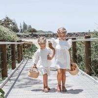 1 7years 2018 New Wholesale Girls Cute Summer Dress Ruffles Cotton Girls Vest Dresses 744GD0130
