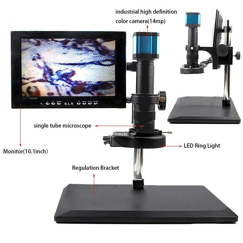 Лидер продаж Бесплатная доставка интерфейс HDMI HD светодиодные кольца видео Цифровые микроскопы Камера для электронных ремонт компьютеров и...