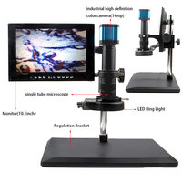 camera computer 14MP HDMI HD interface LED Ring Light Video Digital Microscope Camera for Electronic Computer Repair tools (2)