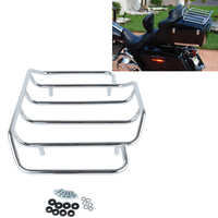 For Touring Road King Street Glide Road Glide CVO 84 2018 FLTRX Electra Glide Chrome Tour Pak Carrier Top Luggage Rack Rail case