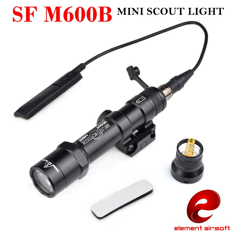Element SF M600B Mini Scout Light For Tactical Gun Flashlight LED Weapon light Pistol Flashlight With Remote Tail Switch EX410 element sf m300 mini scout light black m300a led mini scout flashlight free shipping epacket hongkong post air mail