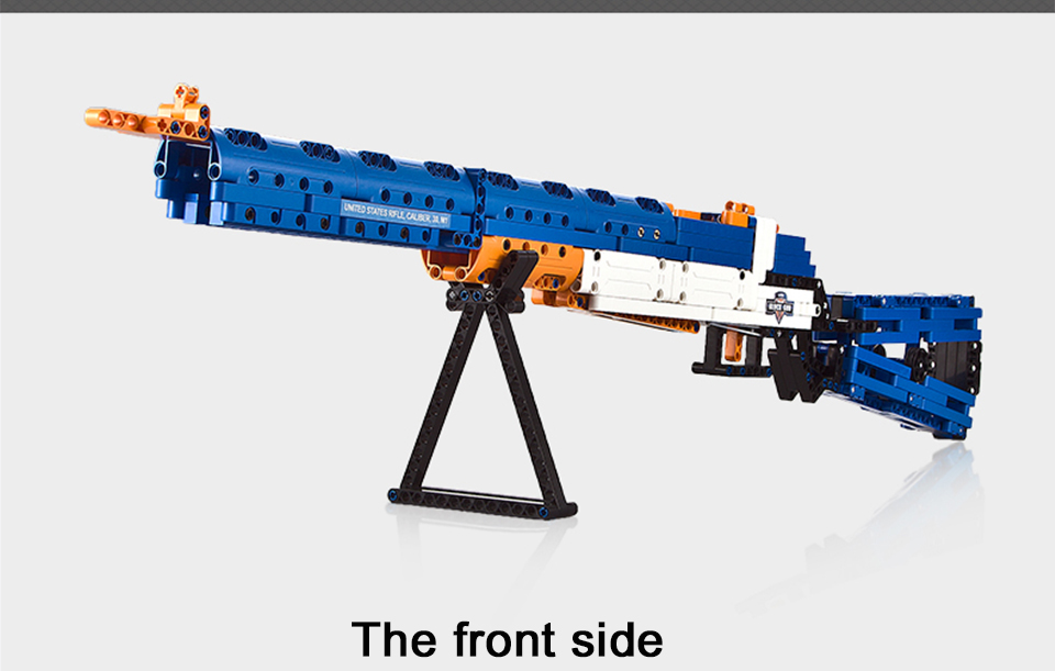 rubber band  gun  AK-47 Garand Rifle  Gun military bricks weapon set can fire building blocks toy for children gift 69