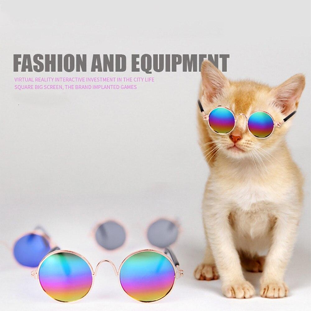 Pet Cat Dog Fashion Sunglasses UV Sun Glasses Eye Protection Wear Photos Props Accessories Pet Supplies Cat Glasse @4