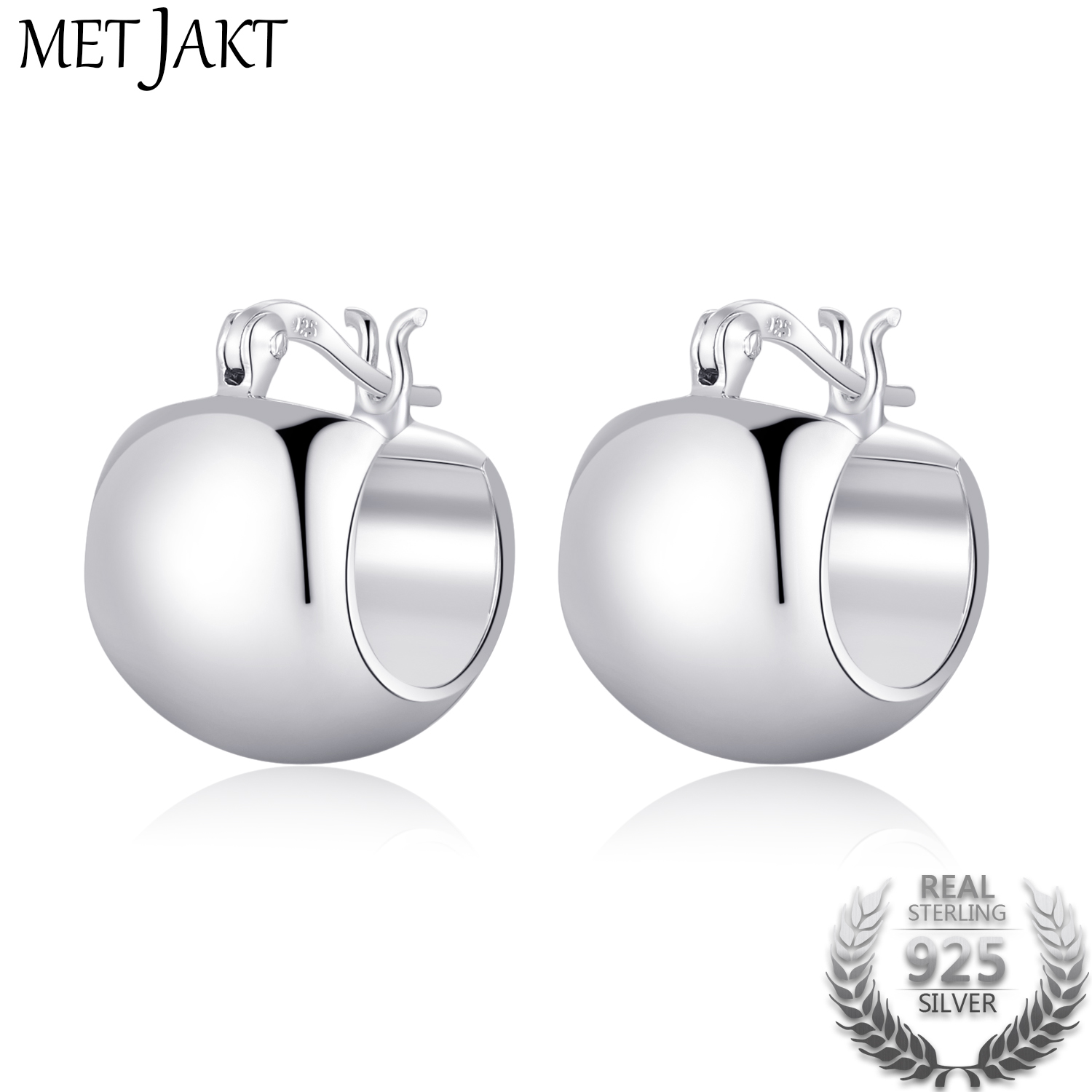 MetJakt Hoop Earrings 925 Sterling Silver Silver Earring for Women Best Gift Fashion Jewelry