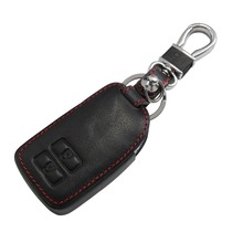 Leather key Cover Case Bag Wallets Key Ring for Toyota 2 Button Key Shell Car Accessories