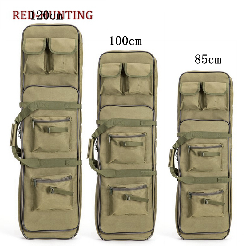 85cm/100cm/120cm Tactical Rifle Gun Shotgun Carry Case Bag Backpack Military Hunting Bag Mud Army Green