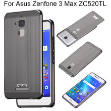 Anti Drop 2IN1 Brushed Acrylic PC Back Cover Metal Bumper Case For Asus Zenfone 3 Max ZC520TL Cases Protective Phone Bag ZC520TL