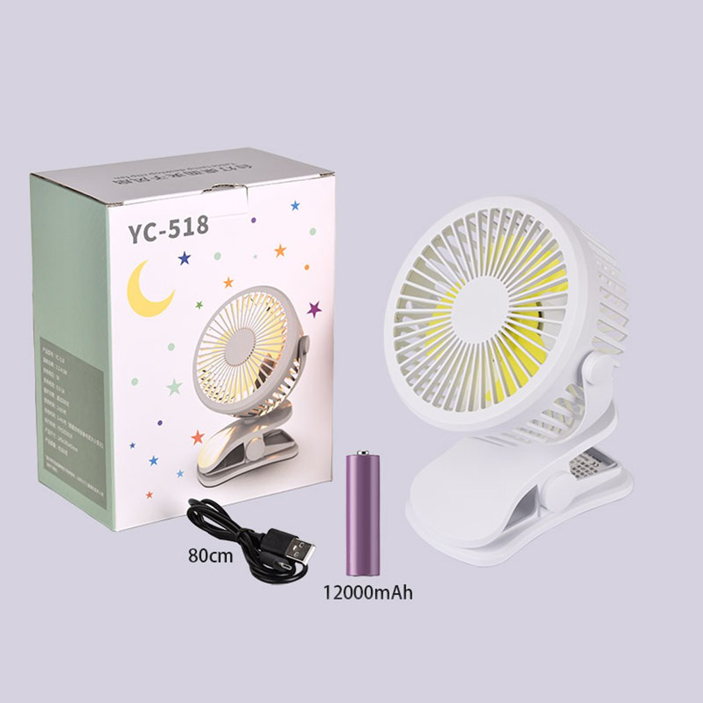 DemüTigen 2-in-1 Multifunktionale Usb Led Nacht Licht Sommer Fan Mini Ruhigen Basis Clip Typ Desktop Fan Wiederaufladbare QualitäT Und QuantitäT Gesichert Fans Haushaltsgeräte