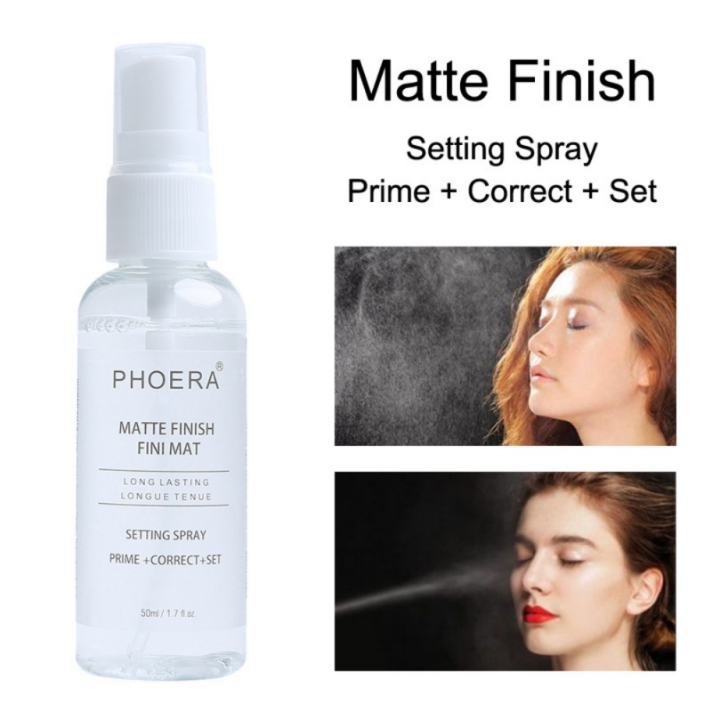 50ML Makeup Setting Spray Matte Finish Bottle Setting Spray Face Foundation Oil-control Natural Long Lasting Make Up Fix image