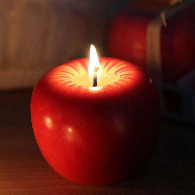Свечи в виде фруктов Рождество моделирование искусственный Apple Форма Свечи канун Свадебная вечеринка Decoartion поставки творческий подарок