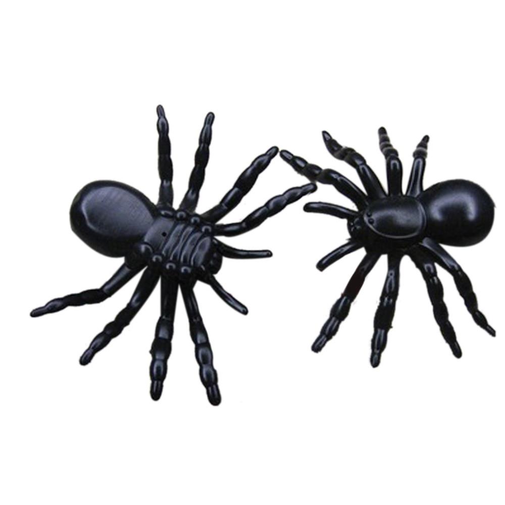 Halloween Plastic Black Spider Joking Toys Decoration Realistic drop shipping D815