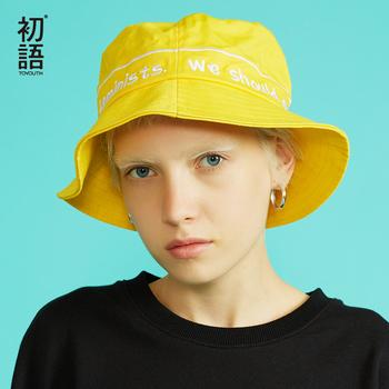 Kapelusz wędkarski mężczyzna kobiet Unisex bawełna list kapelusz kapelusze bob Hip Hop Outdoor Sports letnie panie plaża słońce wiadro wędkarskie kapelusze tanie i dobre opinie Wiadro kapelusze DOME Na co dzień WOMEN COTTON Toyouth Dla dorosłych