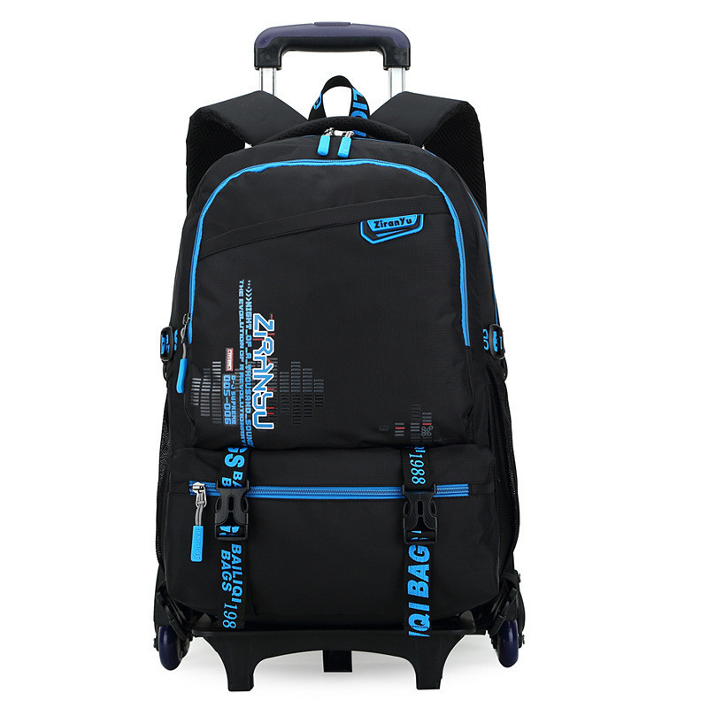 New Kids Trolley School bags Boys Children Removable Backpack 2-6 Wheels For Children Rolling Backpacks Wheels Girls Schoolbag ...