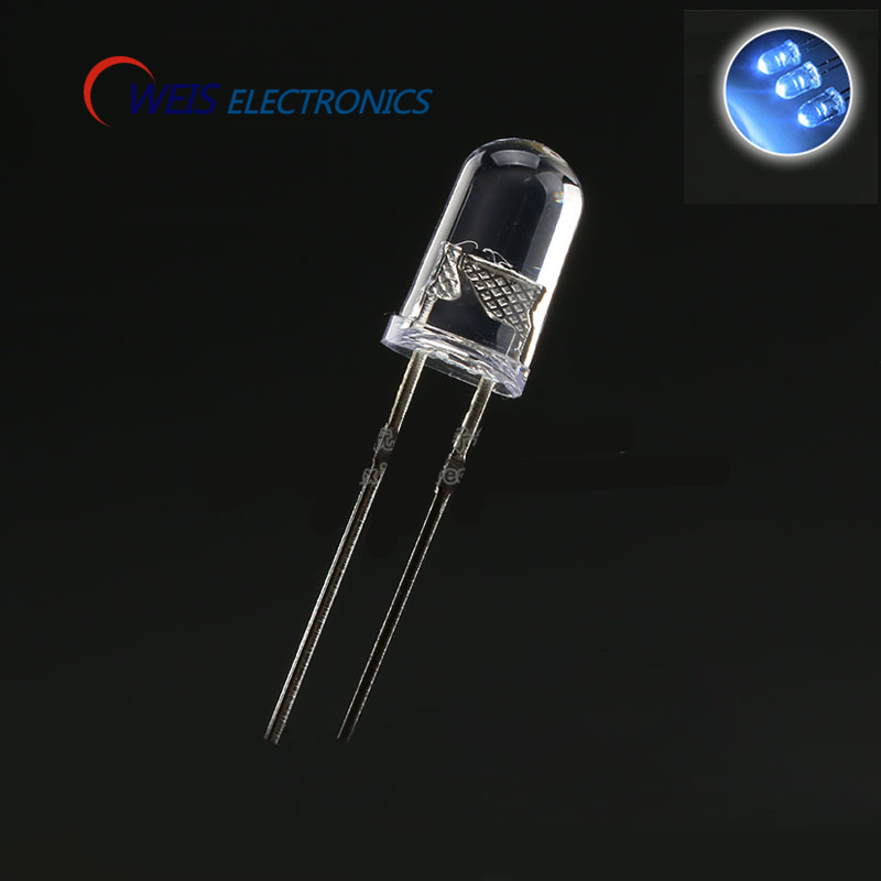 Lights & Lighting Light Beads Dependable Oweis 100pcs/lot 5mm/f5 White Turn White Led Emitting Diode Water Clear Led Lamp Super Light Dropshipping