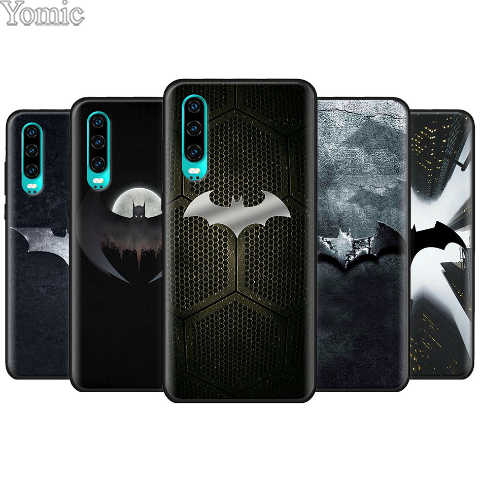 Cool <font><b>marvel</b></font> Batman logo Black Soft Case for <font><b>Huawei</b></font> P20 P30 Pro P9 <font><b>P10</b></font> P20 P30 <font><b>Lite</b></font> P Smart Plus Mate 10 20 <font><b>Lite</b></font> Case <font><b>Cover</b></font> image