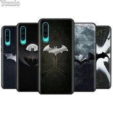 цена на Cool marvel Batman logo Black Soft Case for Huawei P20 P30 Pro P9 P10 P20 P30 Lite P Smart Plus Mate 10 20 Lite Case Cover