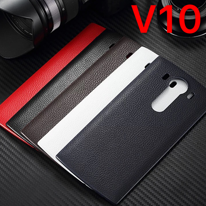 For New leather LG v10 mobile phone back cover wireless charging NFC battery back cover LG v10 following cases