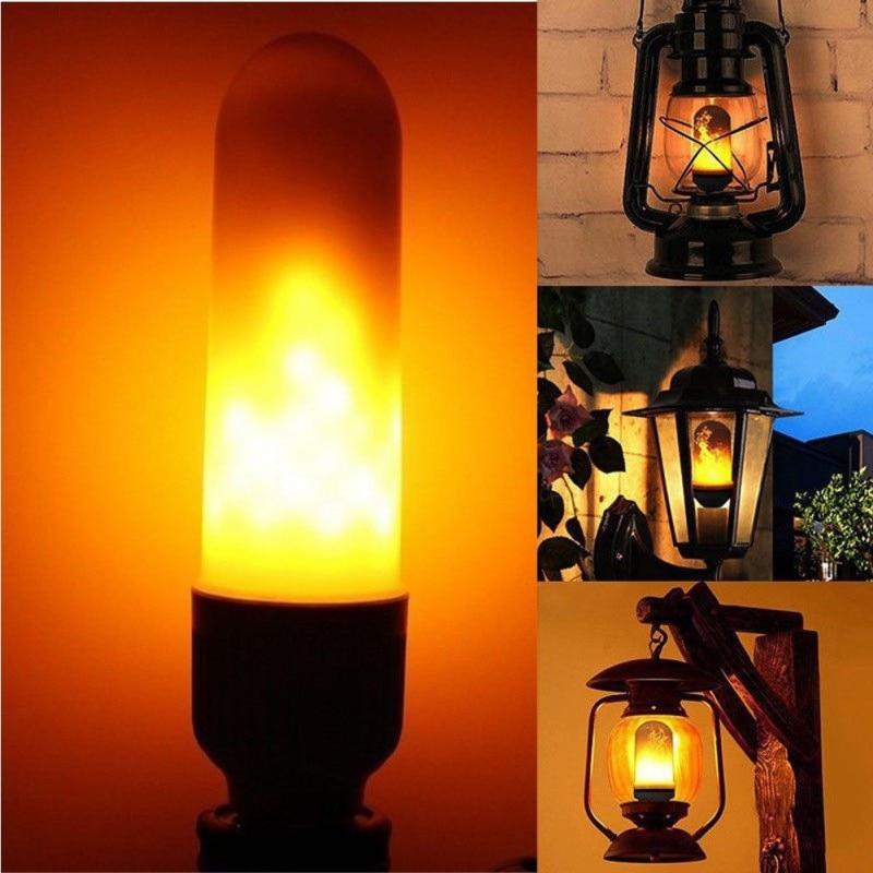 LED Flame Effect Fire Simulated Nature LED Fire Light Corn Bulbs E26 E27 Decoration Lamp 3W Flickering Emulation
