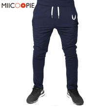 2018 Jogger Pants Men Fitness Bodybuilding Gyms Embroidery Solid Pants Sweatpants Men s Casual Morality Pants