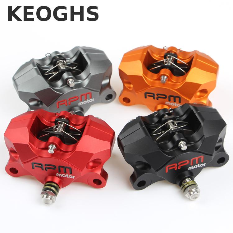 Keoghs Rpm 2*34mm Rear Brake Caliper Brake Pumb Cnc Aluminum 84mm Hole To Hole For Yamaha Kawasaki Ducati Honda Suzuki Modify keoghs motorcycle rear hydraulic disc brake set diy modify cnc rpm brake pumb for yamaha scooter dirt bike motorcross motorbike