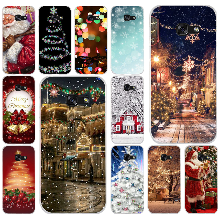 287FG christmas lights Soft Silicone Tpu Cover phone Case for Samsung a3 2016 a5 2017 a6 plus a7 a8 2018 s6 7 8 9 image